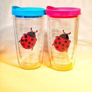 Ladybug 🐞 Tervis 16 oz tumbler with lids set of 2